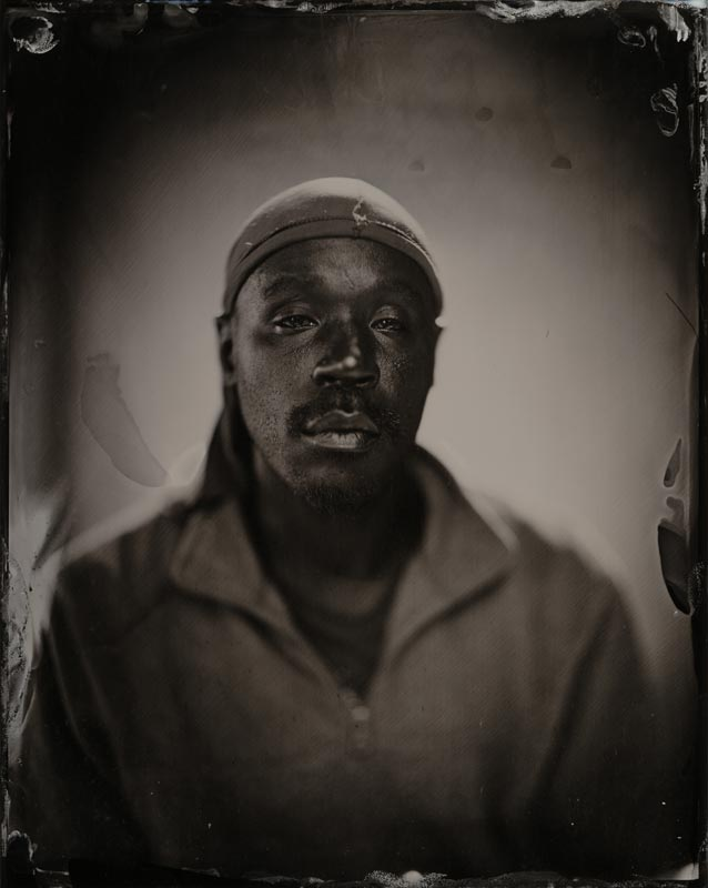 wet plate collodion portrait of homeless man carlos