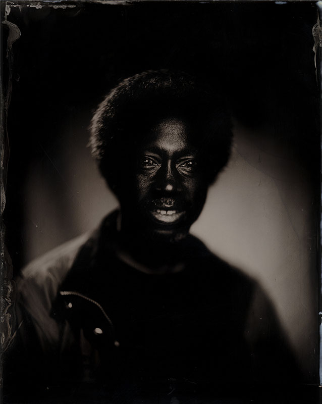 wet plate collodion portrait of homeless man stephen